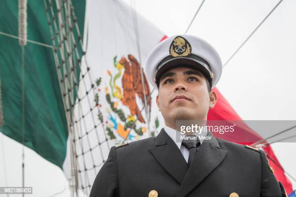 Mexican officer of the Cuauhtémoc poses during the Velas Latinoamerica 2018 Nautical Festival at Callao Naval Base on June 21 2018 in Callao Peru The...
