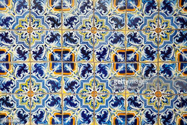 Mexican Painted Tiles, Pattern, Background, Blue, Decor