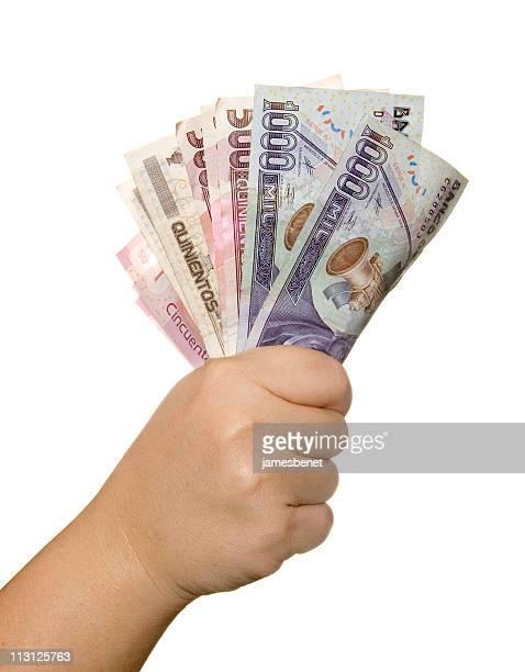 Peso mexicano facturas a mano
