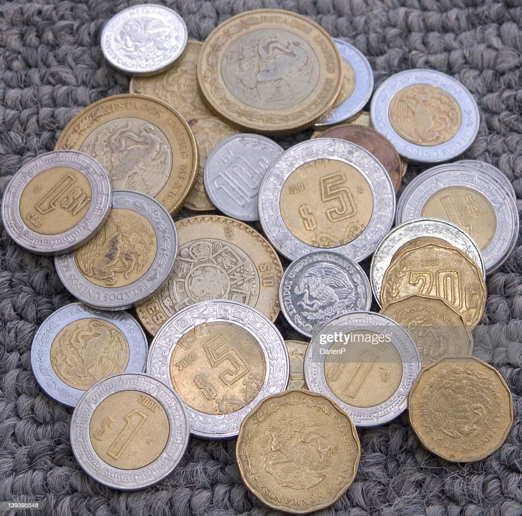 Mexican Peso Coins Stock Photo | Getty Images