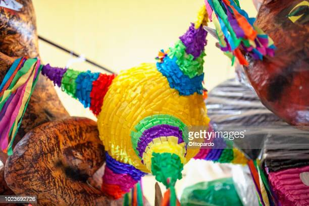 mexican piñata (pinata) - mexican fiesta stock pictures, royalty-free photos & images