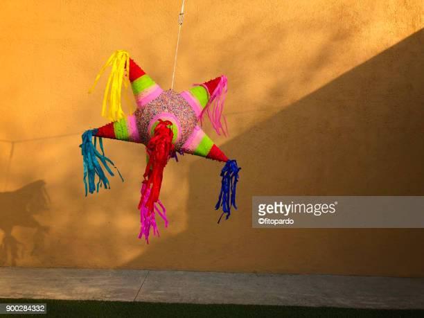 mexican piñata (pinata) - pinata stock pictures, royalty-free photos & images