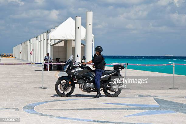 Mexican Police Officer on Motorcycle