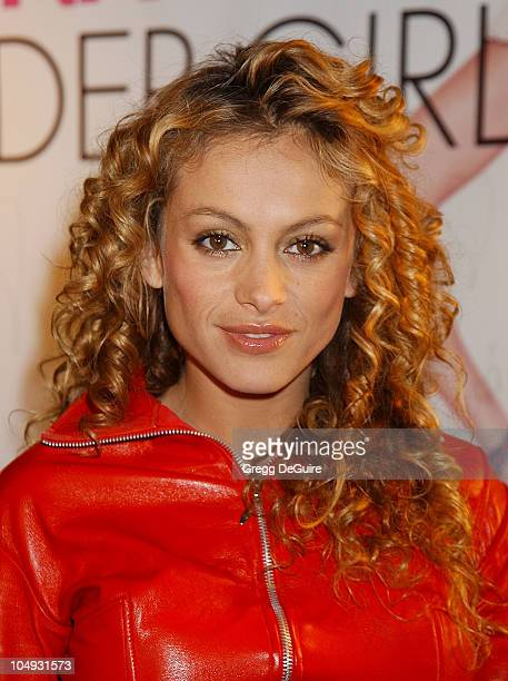 Mexican pop diva Paulina Rubio arrives for press conference for her English debut album titled 'Border Girl' at the Rumba Room at Universal CityWalk...