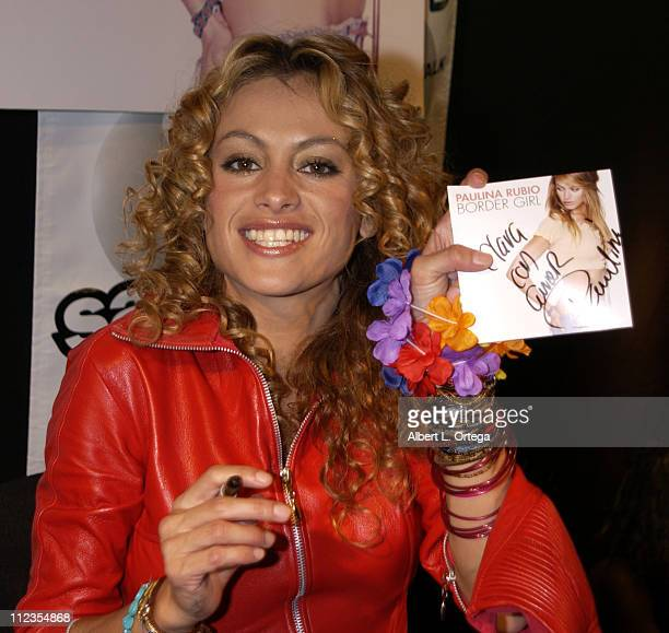 Mexican pop diva Paulina Rubio during an instore appearance for her English debut album titled 'Border Girl' at the Rumba Room at Universal CityWalk...