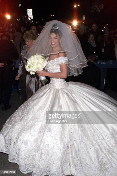 Mexican Pop Star Actress Thalia Arrives At St Patrick S Cathedral In New York City For