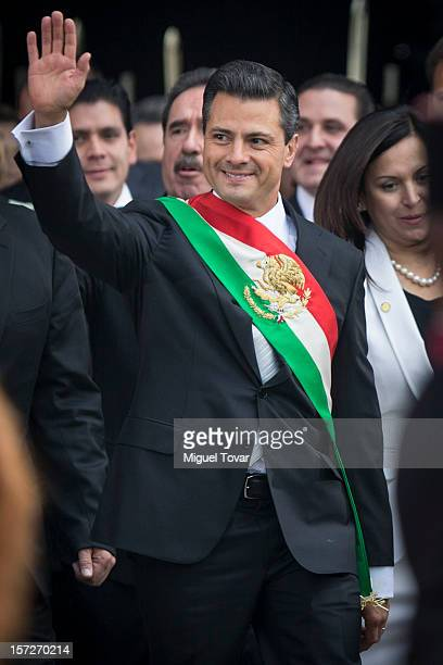 Mexican President Elect Enrique Peña Nieto arrives at the National Congress where will be sworn officially as Mexico's new President December 01 2012...