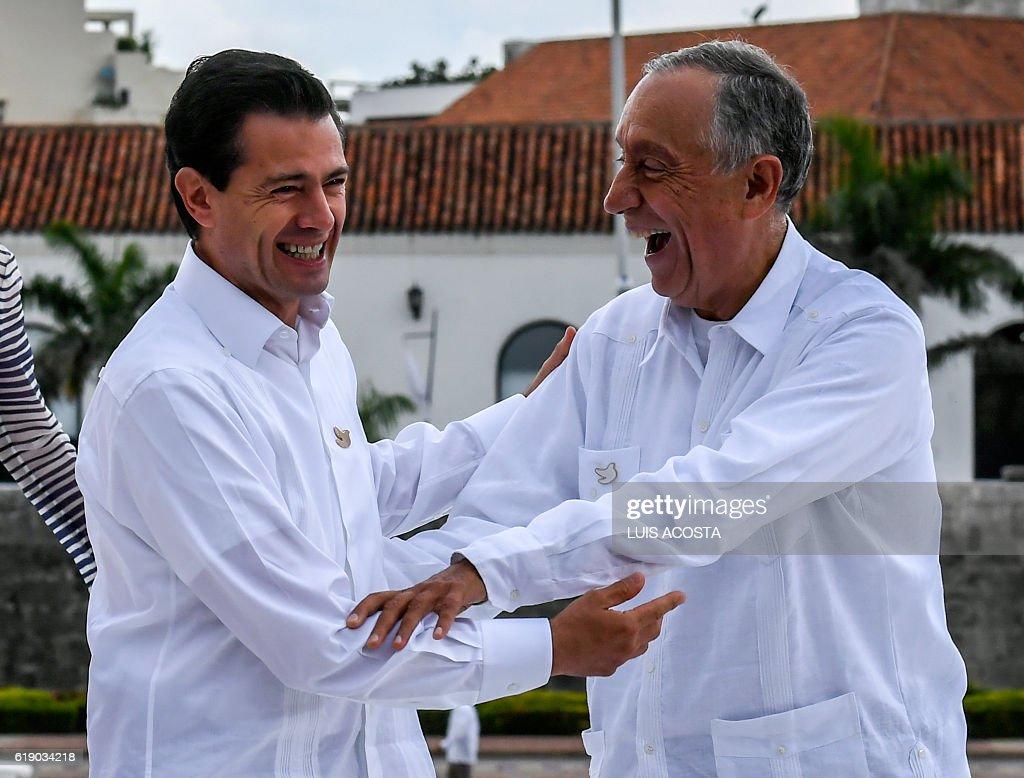 Mexican president enrique pena nieto l and portuguese president mexican president enrique pena nieto l and portuguese president marcelo rebelo de sousa greet m4hsunfo