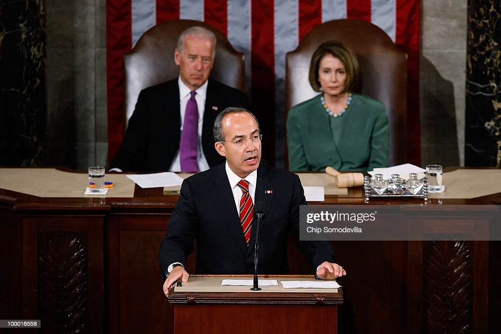 Mexican President Calderon Addresses U.S. Congress