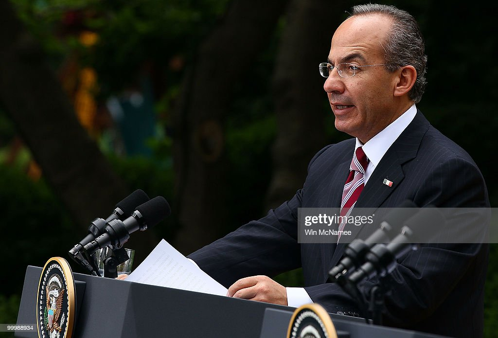 Mexican President Calderon Makes State Visit To White House