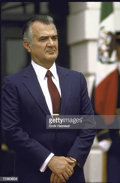 Mexican President Miguel de la Madrid at the White House