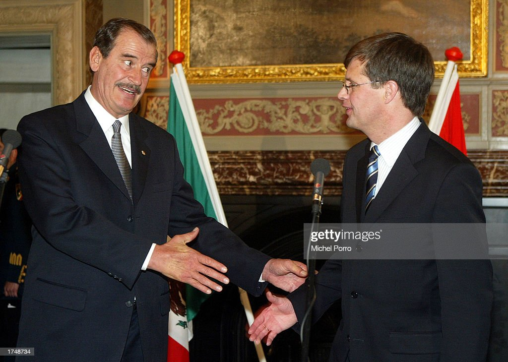 Vicente Fox Visits Netherlands : News Photo