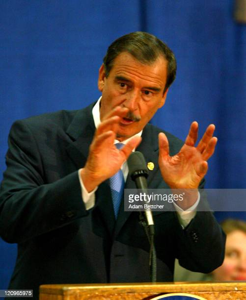 Mexican President Vicente Fox visit to Minneapolis/St Paul Minnesota on Friday June 18 2004 During his visit Fox announced a Mexican Consulate in St...