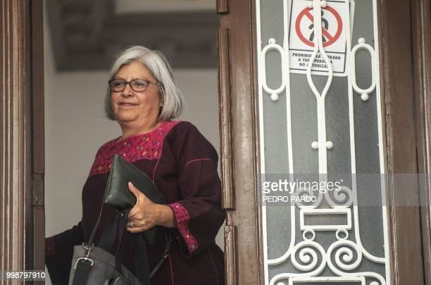 Mexican Presidentelect Andres Manuel Lopez Obrador's appointed Economy Minister Graciela Marquez Colin leaves the party's headquarters in Mexico City...