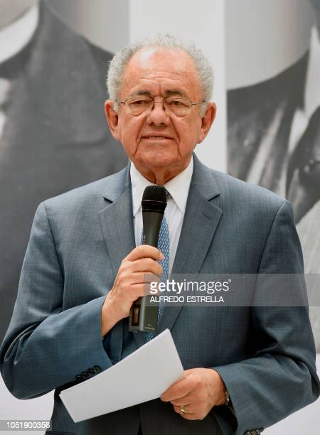 Mexican Presidentelect Andres Manuel Lopez Obrador's appointed Minister of Communications and Transportation Javier Jimenez Espriu speaks during a...