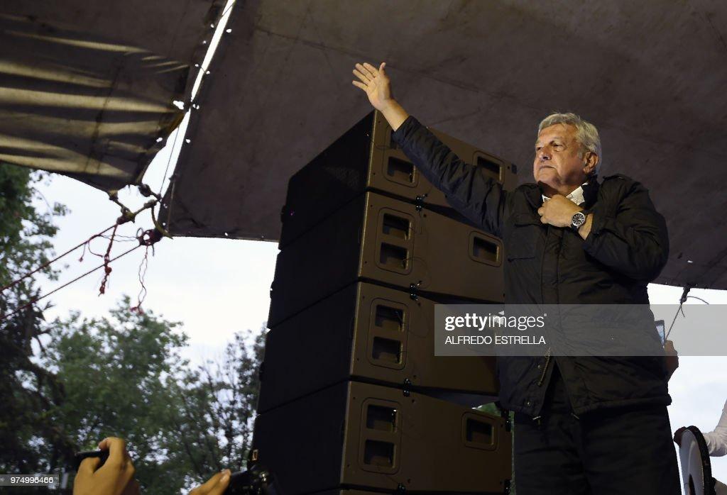 MEXICO-ELECTION-CAMPAIGN-LOPEZ : News Photo