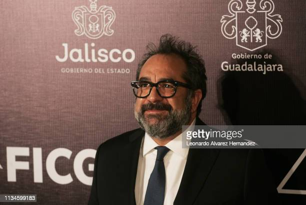 Mexican Production Designer Eugenio Caballero poses during the red carpet prior the opening ceremony of the Guadalajara International Film Festival...