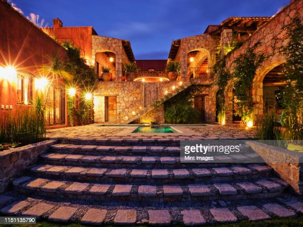 mexican ranch house - stone house stock pictures, royalty-free photos & images