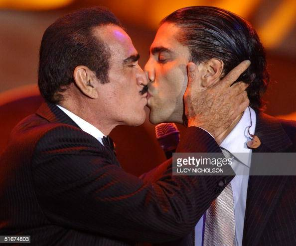 Mexican ranchero singer vicente fernandez kisses his son alejandro mexican ranchero singer vicente fernandez kisses his son alejandro news photo getty images m4hsunfo