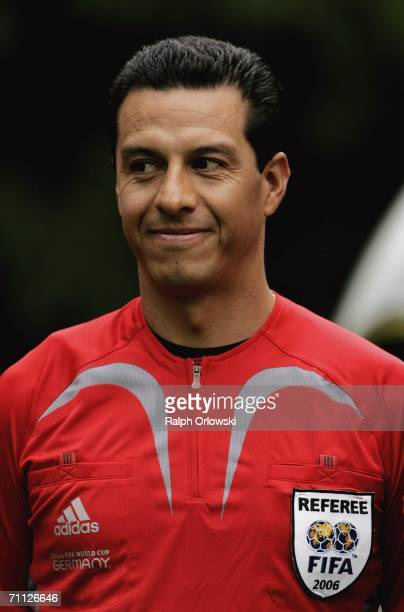 Mexican referee Benito Archundia is pictured during the FIFA Media Day at the Kempinski Gravenbruch Hotel on June 5 2006 in Frankfurt Germany