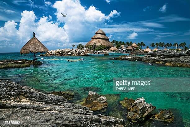 mexican resort - mayan riviera stock photos and pictures