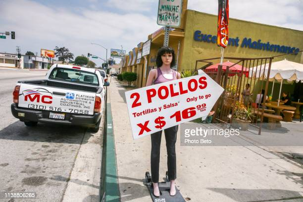 a mexican restaurant along a street in compton south of los angeles in california - compton california stock pictures, royalty-free photos & images