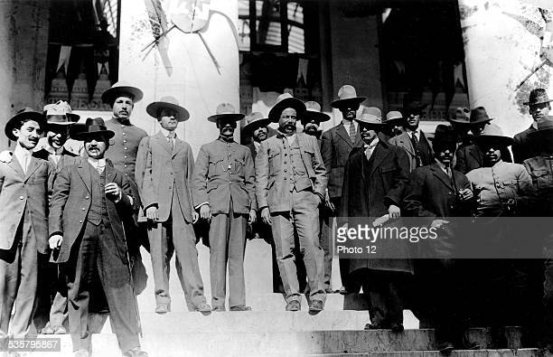 Mexican revolution General Villa and exgovernor Char on the staircase of the Federal Palace Mexico Washington DC Library of Congress