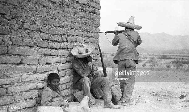 Mexican Revolution Photo shows rebel sharpshooters at work Ca 1910s