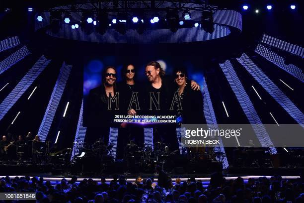 Mexican rock group Mana is honored at the 2018 Latin Recording Academy Person of the Year award in Las Vegas Nevada on November 14 2018