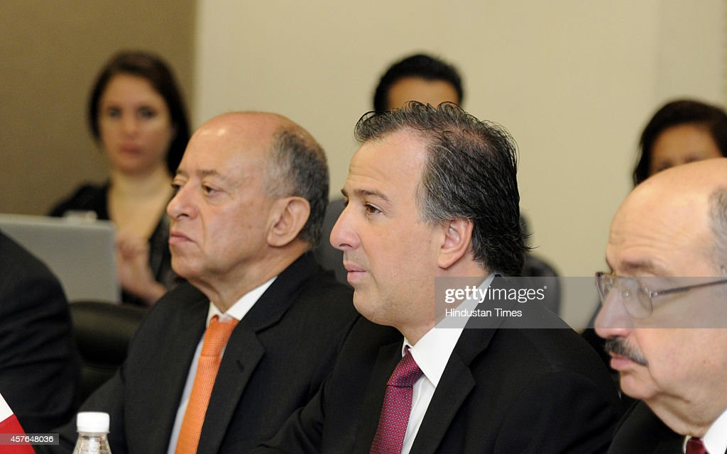 Mexican Secretary Of Foreign Affairs Jose Antonio Meade Kuribrena C During Meeting With External