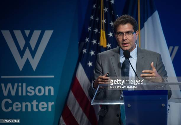 Mexican senator and presidential candidate Armando Rios speaks at an event entitled Changing Political Discourse in Mexico organized by the Atlantic...