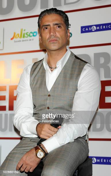 Mexican singer Alejandro Fernandez attends a press conference to present his Spanish Tour 2010 on July 14 2010 in Madrid Spain