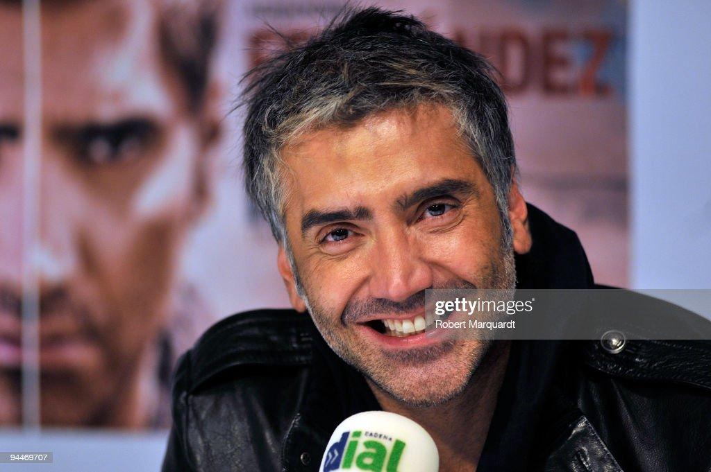 Mexican Singer Alejandro Fernandez Press Conference in Barcelona