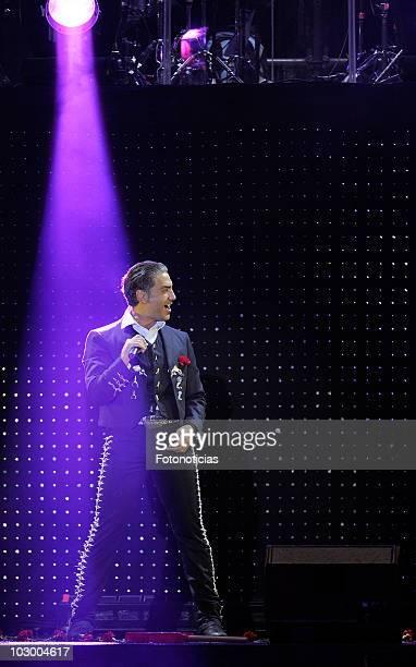 Mexican singer Alejandro Fernandez performs in concert at Palacio de los Deportes on July 20 2010 in Madrid Spain