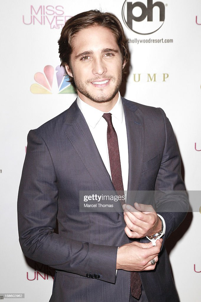 Mexican singer and actor Diego Boneta arrives at the 2012 Miss Universe Pageant at Planet Hollywood Resort & Casino on December 19, 2012 in Las Vegas, Nevada.