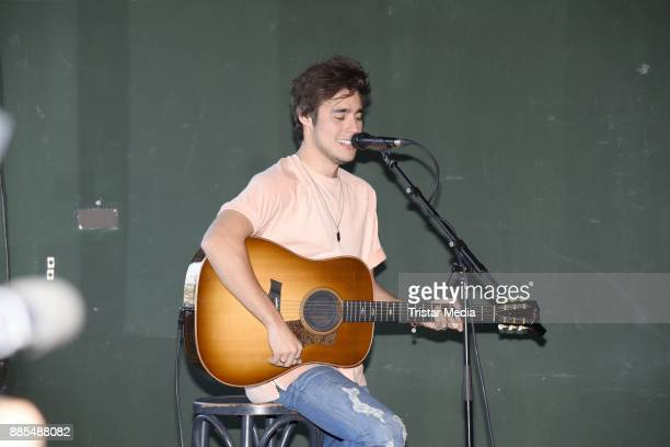 Mexican singer and actor Jorge Blanco performs the Semmel Concerts Press Lunch on December 4 2017 in Berlin Germany