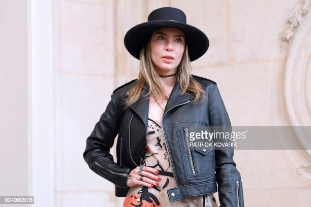 Mexican singer and actress Belinda Peregrin Schull poses for a photocall before the Christian Dior's 2018/2019 fall/winter collection fashion show on...