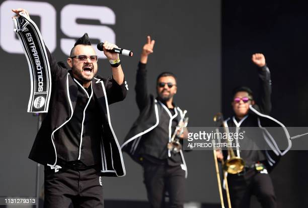 Mexican singer and composer Arturo Ruelas of band Los Estramboticos performs during the second day of the 'Vive Latino' music festival in Mexico City...