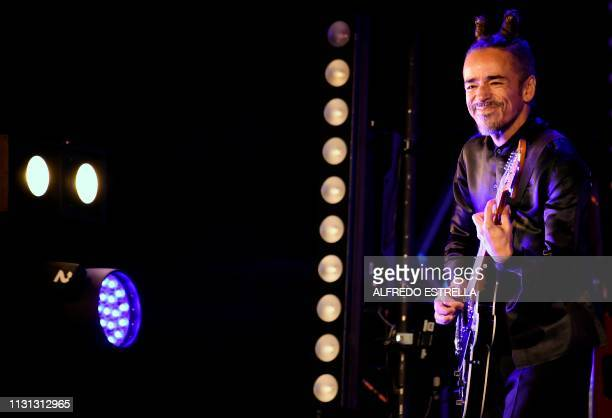 Mexican singer and composer Ruben Albarran of the band Cafe Tacuba performs during the second day of the 'Vive Latino' music festival in Mexico City...