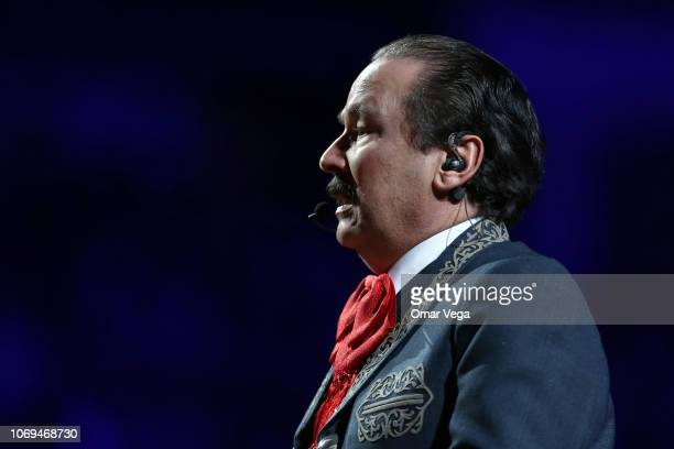 Mexican singer Antonio Aguilar Jimenez known as Antonio Aguilar Hijo performs during a concert as part of the 'Jaripeo Sin Fronteras' tour at...