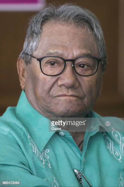 Mexican singer Armando Manzanero looks on during a press conference to announce details of the Armando Manzanero Award on April 05 2017 in Mexico...