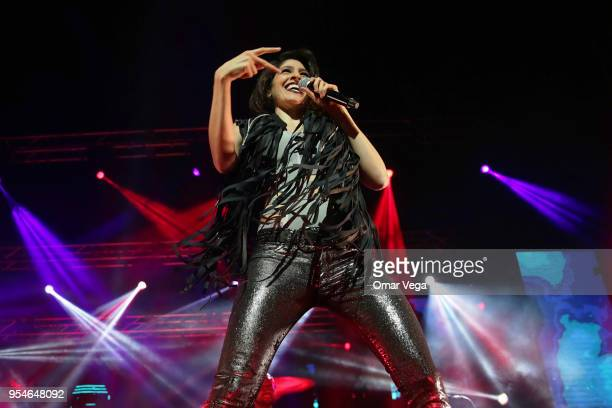 Mexican singer Ashley Grace Pérez Mosa of Pop duo HaAsh during a performance show as part 100 años contigo Tour at The Majestic Theatre on May 3 2018...