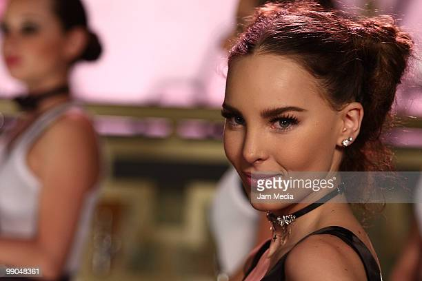 Mexican singer Belinda posses for a photograph during the recording of her video clip Egoista at Reyna Discotheque on May 11 2010 in Mexico City...
