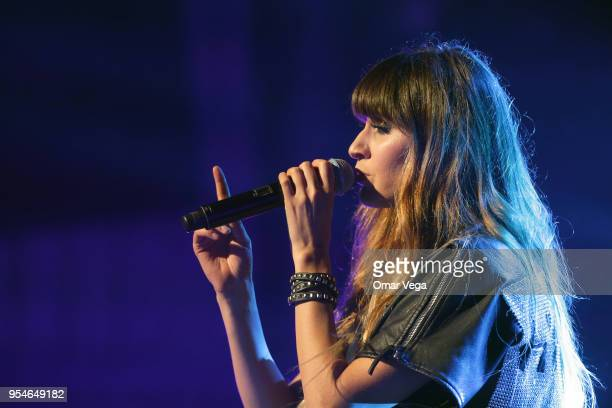 Mexican singer Hanna Nicole Pérez Mosa during a performance show as part 100 años contigo Tour at The Majestic Theatre on May 3 2018 in Dallas US