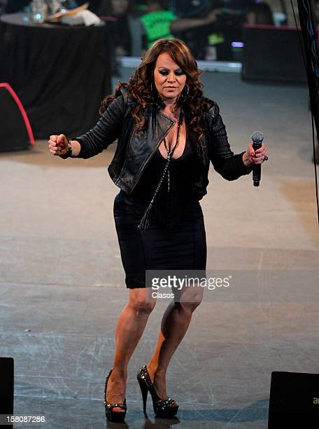Mexican singer Jenni Rivera sings during her last concert at the Arena Monterrey on December 08 2012 in Monterrey Mexico Hours after the show the...