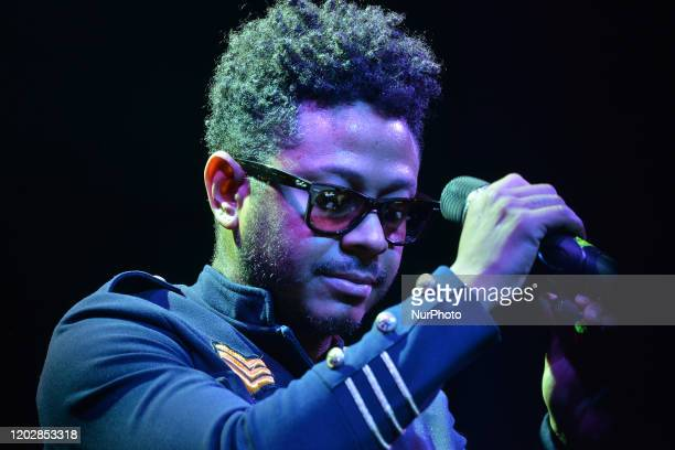 Mexican Singer Kalimba performs on stage a show as part of his album launch Somos Muchos y Venimos Todos at Casino Life on February 22, 2020 in...