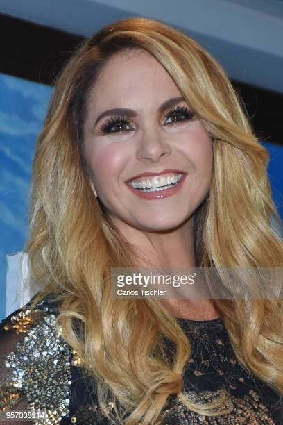 Mexican singer Lucero poses for photos during the press conference to launch her new album Mas Enamorada Con Banda at Presidente Intercontinental...