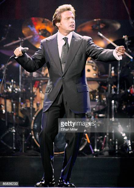 Mexican singer Luis Miguel performs in celebration of Mexican Independence weekend at the MGM Grand Garden Arena September 13 2002 in Las Vegas...