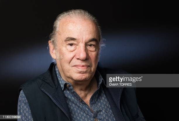 Mexican singer Oscar Chavez poses for a photograph prior to an interview with AFP in Mexico City on March 6 2019 Chavez will participate in the Vive...