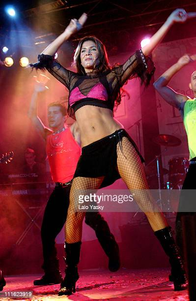 Mexican singer Patricia Manterola during El Latinazo Featuring Pilar Montenegro in Concert at La Rivera Club in Madrid Spain